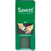"Cederroth, ""Savett"" Wound Cleanser Refill, 40/Box"