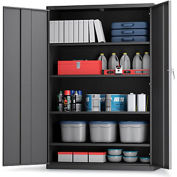 "ALB Plus Extra-Wide All-Welded Storage Cabinet - 48""Wx24""Dx72""H - Charcoal"