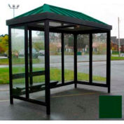 Heavy Duty Bus fumeur abri toit en croupe 3 faces Front ouvert 5' x 10' classique toit vert
