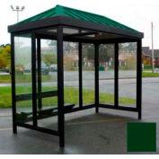 Heavy Duty Bus fumeur abri toit en croupe 3 faces Front ouvert 5' x 12' classique toit vert