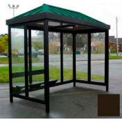 Heavy Duty Bus fumer abri toit en croupe 4 côtés ouverts avant gauche/droite 6' x 12' Dark Bronze toit