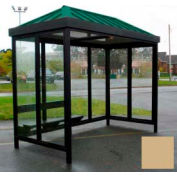 Heavy Duty Bus fumeur abri toit en croupe 4-face avant gauche/droite ouverte 6' x 12' kaki toit