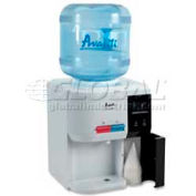 "Avanti Water Cooler, Tabletop, 12-1/4""W x 12-3/4""D x 15-3/4""H, 5 Gal., White/Black"