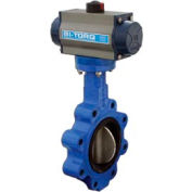 """BI-TORQ 10"""" Wafer Style Butterfly Valve W/ Viton Seals and Dbl. Acting Pneum. Actuator"""