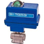 "BI-TORQ 1/2"" 3-Pc SS NPT Fire Safe Ball Valve W/NEMA 4 115VAC/4-20mA Positioner"