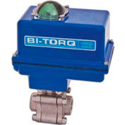 "BI-TORQ 2"" 3-Pc SS NPT Fire Safe Ball Valve W/NEMA 4 115VAC/4-20mA Positioner"