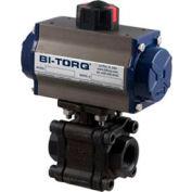 "BI-TORQ 1-1/4"" 3-Pc WCB/SS NPT Fire Safe Ball Valve W/NEMA 4 115VAC/4-20mA Positioner"