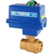 "BI-TORQ 1-1/2"" 2-Pc Brass NPT Ball Valve W/NEMA 4 115VAC/4-20mA Positioner"