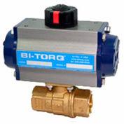 "BI-TORQ 2"" 2-Pc Brass NPT Ball Valve W/Spring Ret. Pneum. Actuator"