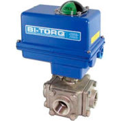 "BI-TORQ 1"" fileté NPT de SS L-Port 3-Way Ball Valve 115VAC W/NEMA 4"