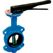 "6"" Wafer Style Butterfly Valve W/ Buna Seals and 10 Position Handle"
