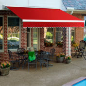 """Awntech DTR16-35-R, Retractable Awning Right Motor 16'W x 10'D x 10""""H Red"""