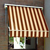 Awntech MS3-BRNT, Retractable Window Awning 3'W x 2'D x 2'H Brown/Tan