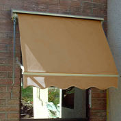 Awntech MS3-T, Retractable Window Awning 3'W x 2'D x 2'H Tan