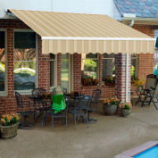 """Awntech SCL16-890-LAW, Retractable Awning Left Motor 16'W x 10'D x 10""""H Linen/Almond/White"""