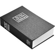 "Barska Hidden Dictionary Book Diversion Safe AX11680 with Key, 6-1/4""W x 2-1/4""D x 9-1/2""H, Black"