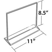 "Azar Displays 142712 Horizontal Top Load Acrylic Sign Holder, 11"" x 8.5"""