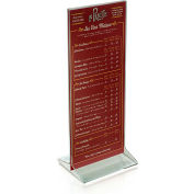 "Azar Displays 142745, Vert Top Load Acrylic Sign HLR, 4.25""W x 11""H"