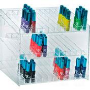 "Azar Displays 222883, 26 Compartment Cosmetic Display, 12""W x 10.5""H x 8.5""D, CLR, 1 Pc"