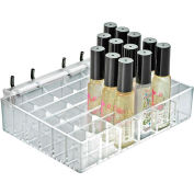 """Azar Displays 225529, 36 Compartment Cosmetic Tray , 7.125""""W x 1.5""""H x 5""""D, CLR"""