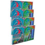 "Azar Displays 252322 8-Pocket Letter Size Wall Mount Display, 19"" x 28.75"", Acrylic ,1 Piece"