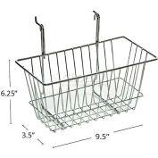 "Azar Displays 300620 Wire Basket 6 1/4""H Chrome"