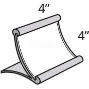 "Azar Displays 300885 Curved Countertop Sign Holder, 4"" x 4"", Metal ,1 Piece"