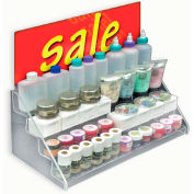 "Azar Displays 326042 4-Step Countertop Display, 16"" x 8"", Acrylic ,1 Piece"