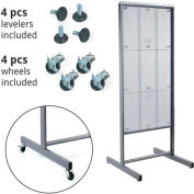 "Azar Displays 700272-CLR, Pegboard Floor Stand W/5"" C Channel Sliding, 24""W x 48""H, CLR, 1 Pc"