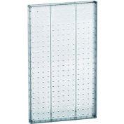 "Azar Displays 771322-CLR Pegboard Wall Panel, 13.5"" x 22"", Clear Opaque"