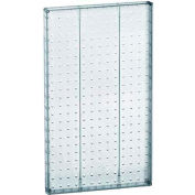 "Azar Displays 771322-CLR Pegboard Wall Panel, 13.5"" x 22"", Clear Opaque"