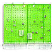 Azar Displays 900945-GRE Pegboard Room Organizer Kit, Hardware Included, Green Opaque ,1 Piece