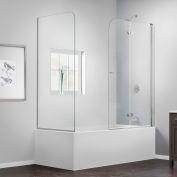 """SON DreamLine-3636580-RT-01 AquaFold à charnières porte de baignoire, Chrome, 56 au 60 """"x 30"""" x 58 """""""