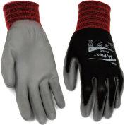 HyFlex® Polyurehtane Lite enduit gants Ansell 11-600, taille 8, noir/gris, 1 paire, qté par paquet : 12
