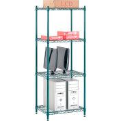 "Nexel® Poly-Green™ Wire Shelving Starter, 24""W x 14""D x 63""H"