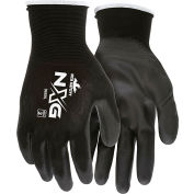 MCR Safety 96731L Memphis Flex Seamless 13 Gauge Nylon Knit Gloves, Large, Blue/Gray, 1 Pair