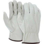 MCR Safety 3215L Leather Drivers Gloves, Unlined Select Grain Cow Leather, Large