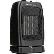 Comfort Zone® CZ448 Oscillating Ceramic Heater – Portable Fan Forced – Black - 750-1500 Watt