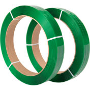 "Polyester Strapping 1/2"" x .025"" x 2,900' Green 16"" x 3"" Core - Pkg Qty 2"