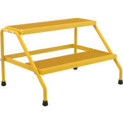 Aluminum Yellow Wide Step Stand - 2 Step - SSA-2W-KD-Y