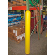 "Global Industrial™ Smooth Bollard Post Sleeve, 6"" HDPE Dome Top, Yellow"