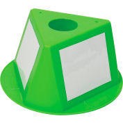 Inventory Control Cone W/ Dry Erase Decals, Lime