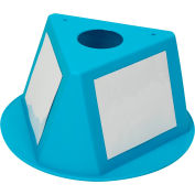Inventory Control Cone W/ Dry Erase Decals, Turquoise