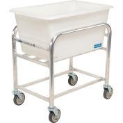 "Global Industrial™ Bulk Mover Cart with White Tub, 4 Bushel, 32-3/4""L x 21-1/4""W x 36""H"