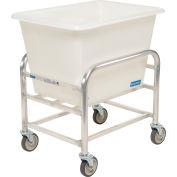 "Global Industrial™ Bulk Mover Cart with White Tub, 6 Bushel, 32-1/4""L x 23-1/4""W x 36""H"