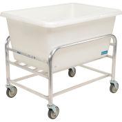 "Global Industrial™ Bulk Mover Cart with White Tub, 9 Bushel, 41-1/2""L x 29-1/2""W x 36""H"