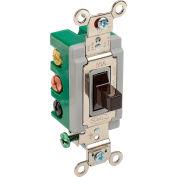 Interrupteur à levierBryant 3025BRN,bipolaire, à 2 directions, 30 A,CA de 120/277 V, brun