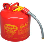 """Eagle Type II Safety Can with 7/8"""" Spout - 5 Gallons - Red, U2-51-S"""