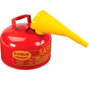 Eagle Type I Safety Can - 2 Gallon with Funnel - Red, UI-20-FS