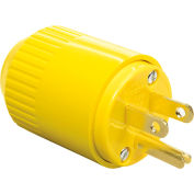 Bryant 5965BY TECHSPEC® lame droite Plug, 15 a, 125V, thermoplastique jaune